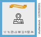 location map icon vector   Shutterstock .eps vector #1225030201