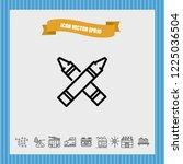 highlighter icon vector | Shutterstock .eps vector #1225036504