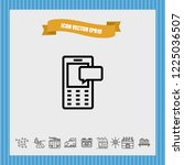 mobile chat icon vector | Shutterstock .eps vector #1225036507