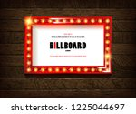retro cinema bulb sign shape  ... | Shutterstock . vector #1225044697