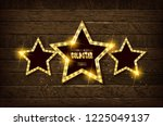 large wooden star with a large... | Shutterstock . vector #1225049137