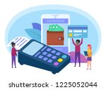 online payment system concept.... | Shutterstock .eps vector #1225052044