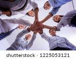 people hands harmonious... | Shutterstock . vector #1225053121