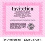 pink invitation. cordial design.... | Shutterstock .eps vector #1225057354
