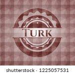turk red geometric emblem.... | Shutterstock .eps vector #1225057531
