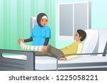 a vector illustration of nurse... | Shutterstock .eps vector #1225058221