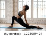 young sporty attractive woman...   Shutterstock . vector #1225059424