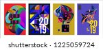 2019 new abstract poster...   Shutterstock .eps vector #1225059724