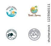 travel agent logo design | Shutterstock .eps vector #1225060111