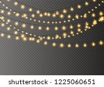 christmas lights isolated... | Shutterstock .eps vector #1225060651