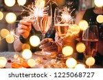 friends celebrating christmas... | Shutterstock . vector #1225068727