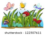 illustration of various insects ... | Shutterstock .eps vector #122507611