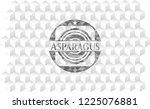 asparagus realistic grey emblem ...   Shutterstock .eps vector #1225076881