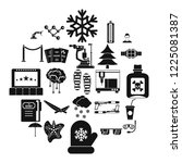 spectacles icons set. simple...   Shutterstock .eps vector #1225081387