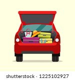 suitcase  bags and other... | Shutterstock .eps vector #1225102927