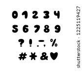 alphabet bubble design. numbers ... | Shutterstock .eps vector #1225119427