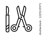 surgical instruments icon... | Shutterstock .eps vector #1225119571