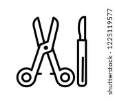 surgical instruments icon... | Shutterstock .eps vector #1225119577