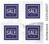 clearance sale banner and... | Shutterstock .eps vector #1225130527