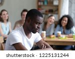 group diverse people sitting in ... | Shutterstock . vector #1225131244