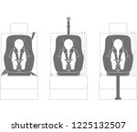 installation method of child... | Shutterstock .eps vector #1225132507