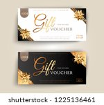 vector set of luxury gift... | Shutterstock .eps vector #1225136461