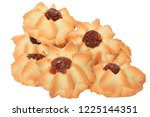 shortbread with jam isolated on ... | Shutterstock . vector #1225144351