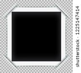 photo frame mockup design with... | Shutterstock .eps vector #1225147414