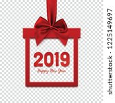 happy new year 2019  square... | Shutterstock .eps vector #1225149697