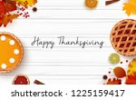 thanksgiving day greeting card... | Shutterstock .eps vector #1225159417