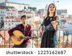 beautiful fado singer... | Shutterstock . vector #1225162687