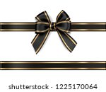 decorative black bow with... | Shutterstock .eps vector #1225170064