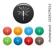sparkler icons set 9 color...