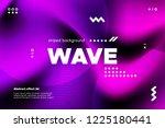 3d distorted wave lines....   Shutterstock .eps vector #1225180441