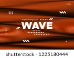 3d poster with wave stripes....   Shutterstock .eps vector #1225180444