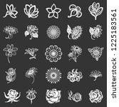 flower icon set. simple set of... | Shutterstock . vector #1225183561