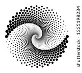 design spiral dots backdrop.... | Shutterstock .eps vector #1225198234