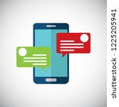 chat messages notification on... | Shutterstock .eps vector #1225205941