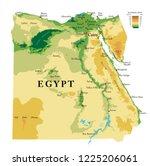 egypt  physical map | Shutterstock .eps vector #1225206061
