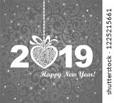 2019 happy new year background... | Shutterstock . vector #1225215661