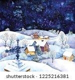 Christmas Village With Deep...