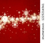 abstract snowflakes on color... | Shutterstock . vector #1225216561