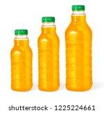 three orange juice bottle...   Shutterstock . vector #1225224661