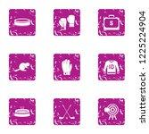 reaction training icons set.... | Shutterstock .eps vector #1225224904