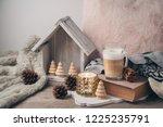 hygge scandinavian style...   Shutterstock . vector #1225235791