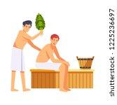sauna and spa procedures by... | Shutterstock .eps vector #1225236697