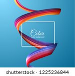 3d colorful paint watercolor... | Shutterstock .eps vector #1225236844