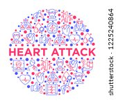 heart attack symptomps concept... | Shutterstock .eps vector #1225240864