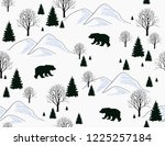 beautiful hand drawn christmas... | Shutterstock .eps vector #1225257184