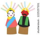 ondel   ondel  giant puppet....   Shutterstock .eps vector #1225257331